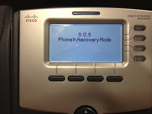 Cisco phone not updating firmware